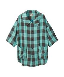 SUPER HYS刺繍 オーバーサイズシャツミント