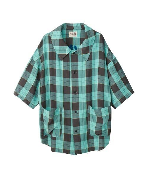 SUPER HYS刺繍 オーバーサイズシャツ