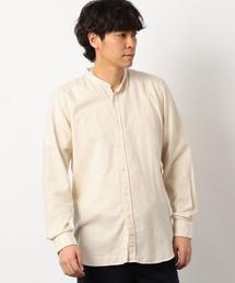 [マエストリ・フィオレンティーニ] SC★MF MINI ヘリンボン バンドカラーシャツ
