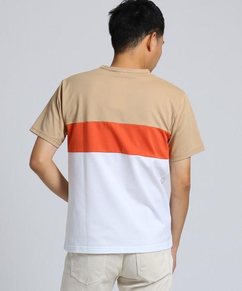 カラー切替 ボーダー Tシャツ[ メンズ Tシャツ クールマックス ]