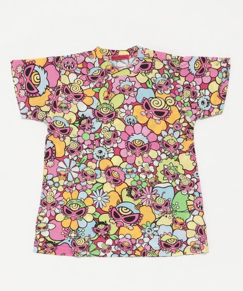 MONSTER FLOWER GARDEN総柄 BIGTシャツ