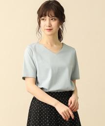 Honeys(ハニーズ)の半袖ノンステッチVネックTシャツ(Tシャツ/カットソー)