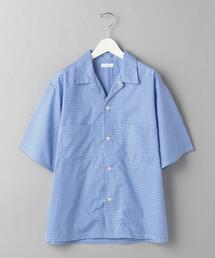 BY ギンガムチェック キャンプカラー シャツ