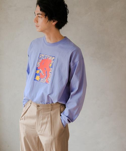 niko and...(ニコアンド)の「アーティストコラボロンT(Tシャツ/カットソー)」|ライトブルー