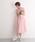 merlot plus(メルロープリュス)の「デコルテシースルーチュールスカートワンピース2404(ドレス)」|ピンク