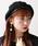 WEGO(ウィゴー)の「WEGO/パイピングベレー帽(ハンチング/ベレー帽)」|ブラック