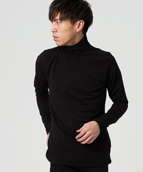 ベア天竺タートルネック長袖カットソー/Tシャツ