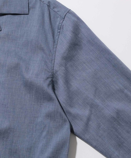 FITTY FLAX ポプリン開襟シャツ(長袖)