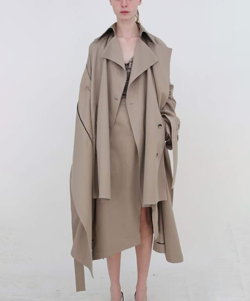 【 rokh 】 DOUBLE LAYER COAT