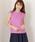 MEW'S REFINED CLOTHES(ミューズリファインドクローズ)の「洗えるフレンチリネンノースリブラウス(シャツ/ブラウス)」|ラベンダー