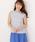 MEW'S REFINED CLOTHES(ミューズリファインドクローズ)の「洗えるフレンチリネンノースリブラウス(シャツ/ブラウス)」|ホワイト×ブラック