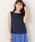 MEW'S REFINED CLOTHES(ミューズリファインドクローズ)の「洗えるフレンチリネンノースリブラウス(シャツ/ブラウス)」|ネイビー