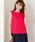 MEW'S REFINED CLOTHES(ミューズリファインドクローズ)の「洗えるフレンチリネンノースリブラウス(シャツ/ブラウス)」|レッド