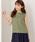 MEW'S REFINED CLOTHES(ミューズリファインドクローズ)の「洗えるフレンチリネンノースリブラウス(シャツ/ブラウス)」|カーキ