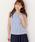 MEW'S REFINED CLOTHES(ミューズリファインドクローズ)の「洗えるフレンチリネンノースリブラウス(シャツ/ブラウス)」|ブルー