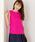 MEW'S REFINED CLOTHES(ミューズリファインドクローズ)の「洗えるフレンチリネンノースリブラウス(シャツ/ブラウス)」|フューシャピンク