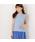 MEW'S REFINED CLOTHES(ミューズリファインドクローズ)の「洗えるフレンチリネンノースリブラウス(シャツ/ブラウス)」|ライトブルー
