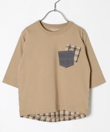 GLOBAL WORK(グローバルワーク)の【キッズ】バックフハクT7分袖/845142(Tシャツ/カットソー)