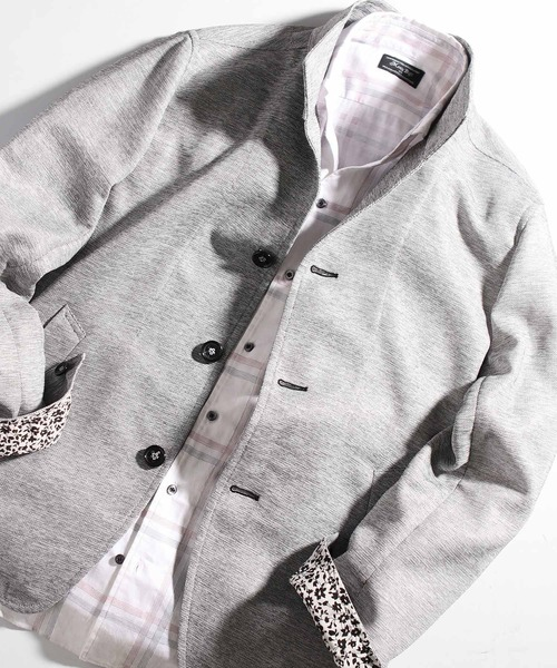 【ウォッシャブル】カラミ織りスタンドカラージャケット