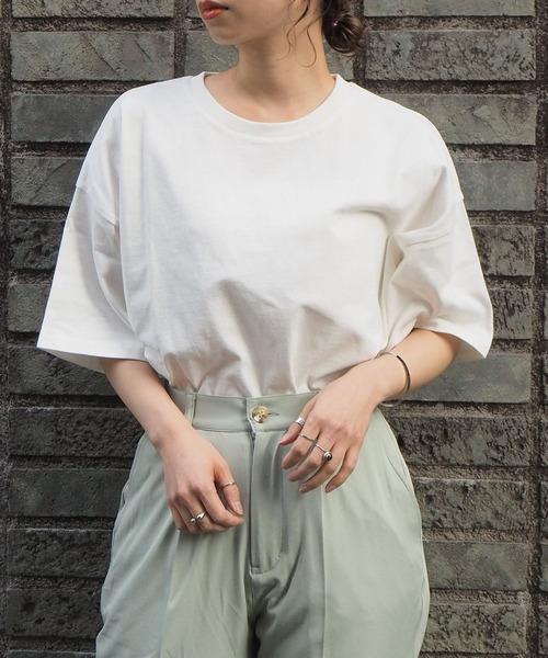tiptop(ティップトップ)の「2020SS 綿100%BIG半袖Tシャツ(Tシャツ/カットソー)」|オフホワイト