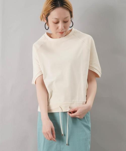 LUCA/LADY LUCK LUCA(ルカ/レディラックルカ)の「LC/LLL 裾ドローコード ラグランプルオーバー(Tシャツ/カットソー)」|アイボリー