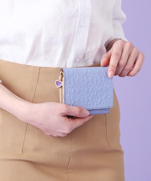 ANNA SUI(アナスイ)の「インザハート 2つ折り財布(財布)」|ライトブルー