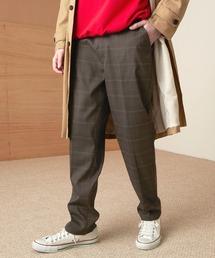 TRストレッチスリムテーパードスラックス EMMA CLOTHES 2021 SPRINGダークブラウン