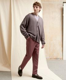 TRストレッチスリムテーパードスラックス EMMA CLOTHES 2021 SPRINGダークパープル