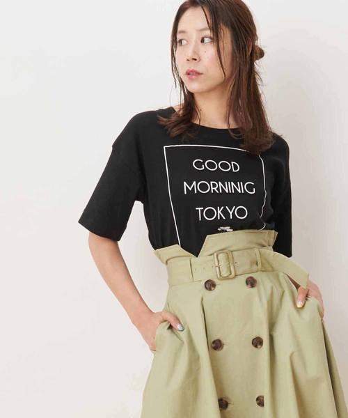 【Ray/CanCam掲載】エンボスロゴTシャツ