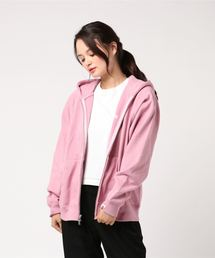 EMBROIDERY WIDE ZIP HOODIE L(パーカー)