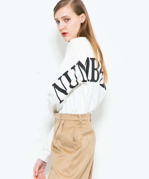 【NUMBER (N)INE】《WEB限定》ビッグシルエットバックロゴロングTシャツ
