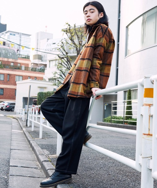 【BASQUE -enthusiastic design-】ビッグシルエットヘビーウェイトチェックネルシャツ/CPOシャツ