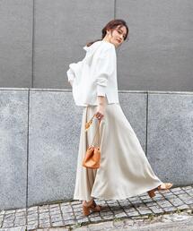 SMF LYO フレアマキシスカート