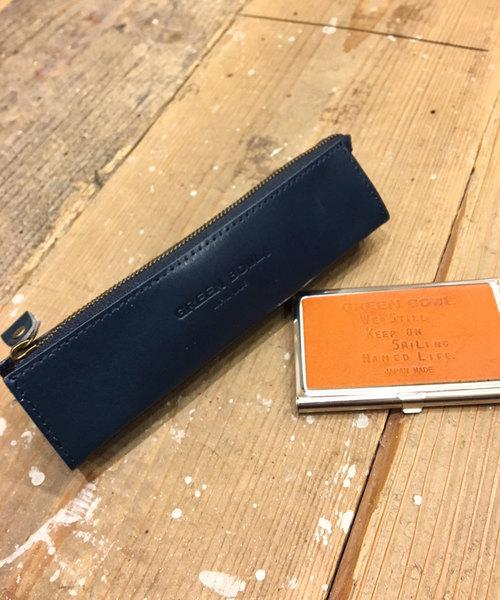 GREEN BOWL Leather Pencil Case/グリーンボウル レザー ペンシル ケース