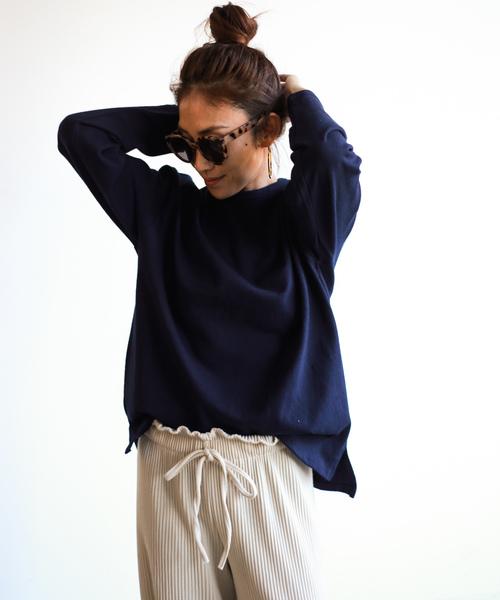 Auntie Rosa Holiday(アンティローザホリデー)の「【Holiday】ヘビーウェイトロングスリーブT  ◆WEB限定◆(Tシャツ/カットソー)」|ネイビー