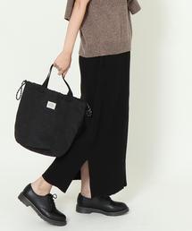 【WEB限定:ブラック】ヘビーワッフルロングスカート