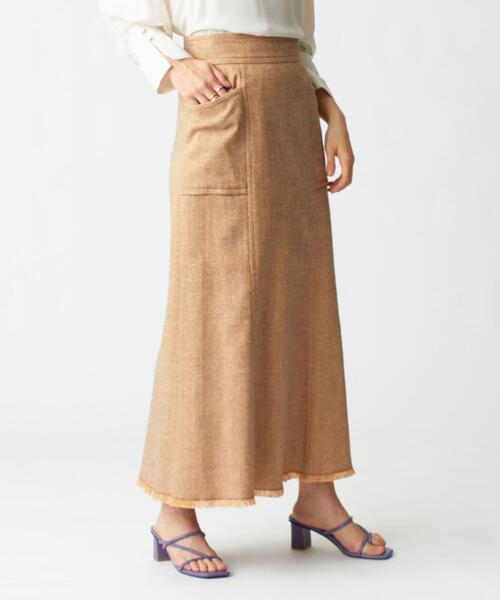 SMF ツイード フリンジ マーメードスカート