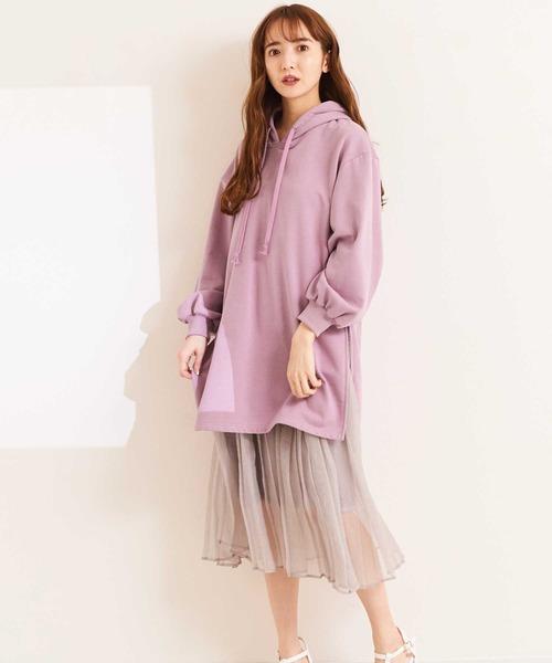 【WEB限定】スカートセット裏毛ワンピース