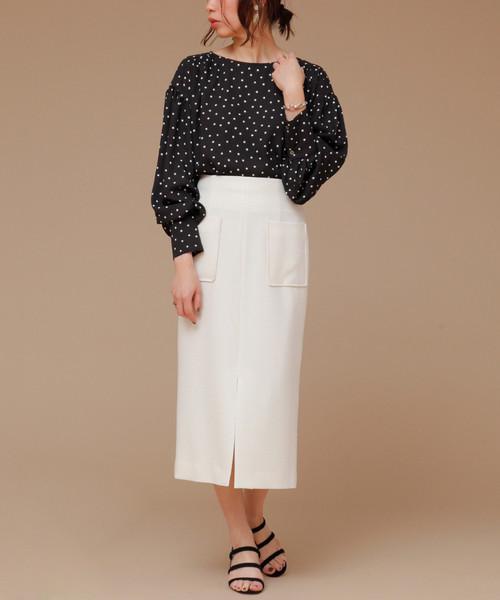 martinique(マルティニーク)の「martinique/ブッチャータイトスカート(スカート)」|ホワイト