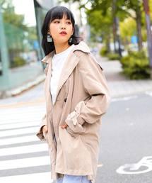 Fashion Letter(ファッションレター)の2WAYミドル丈ゆるトレンチコート(トレンチコート)