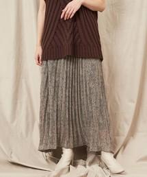 CAPRICIEUX LE'MAGE(カプリシューレマージュ)のミニレオパードプリーツスカート(スカート)