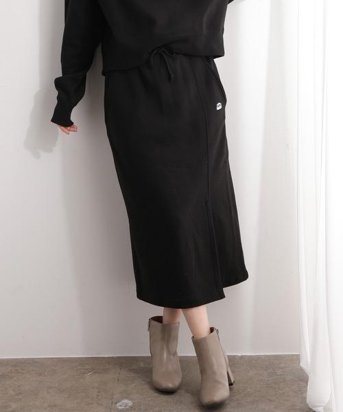 Lee(リー)の「【Lee×ViS】裏毛ロングスカート(スカート)」|ブラック