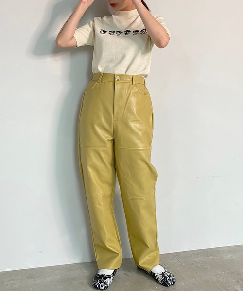 【SANSeLF】 eco leather pants sanw57