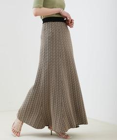 【EMMA】ジャガードニットフィットフレアスカート