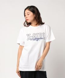 X-girl(エックスガール)のCOLLEGE & SIGN LOGO S/S BIG TEE(Tシャツ/カットソー)
