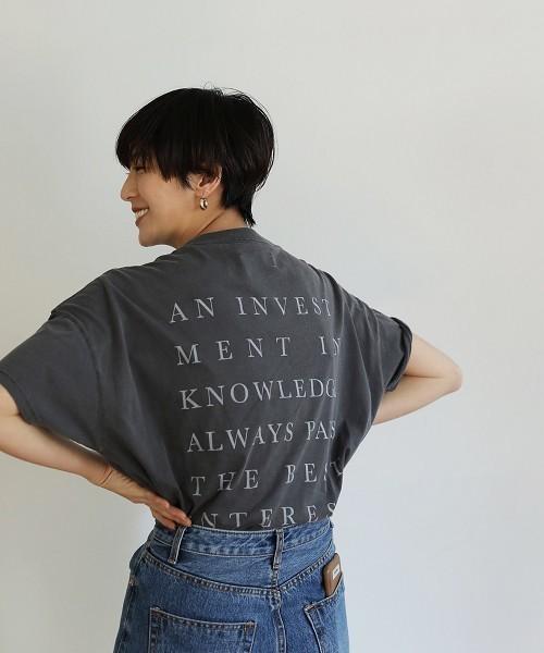 TODAYFUL(トゥデイフル)の「バックプリントルーズTシャツ(Tシャツ/カットソー)」|ブラック