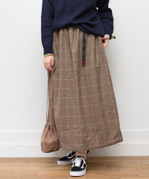 GRAMICCI / グラミチ ウールロングフレアスカート WOOL LONG FLARE SKIRT