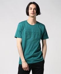 【OUTDOOR PRODUCTS】エンボスロゴTシャツ 同色プリント ブランドロゴグリーン