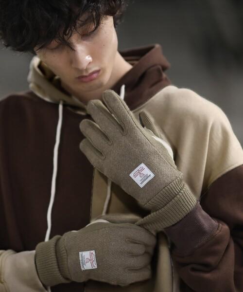 HARRIS TWEED(ハリスツイード)の「Harris Tweed/ハリスツイード タッチパネル対応グローブ(手袋)」|ベージュ