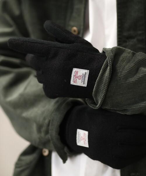 HARRIS TWEED(ハリスツイード)の「Harris Tweed/ハリスツイード タッチパネル対応グローブ(手袋)」 ブラック
